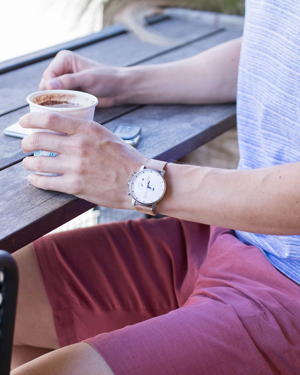 @Dylanbenjam Instagram Male Fashion MVMT Watch and Red Ted Baker Shorts