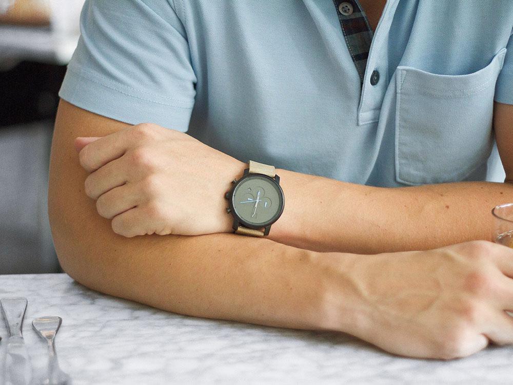 MVMT Black Chronograph Watch 2