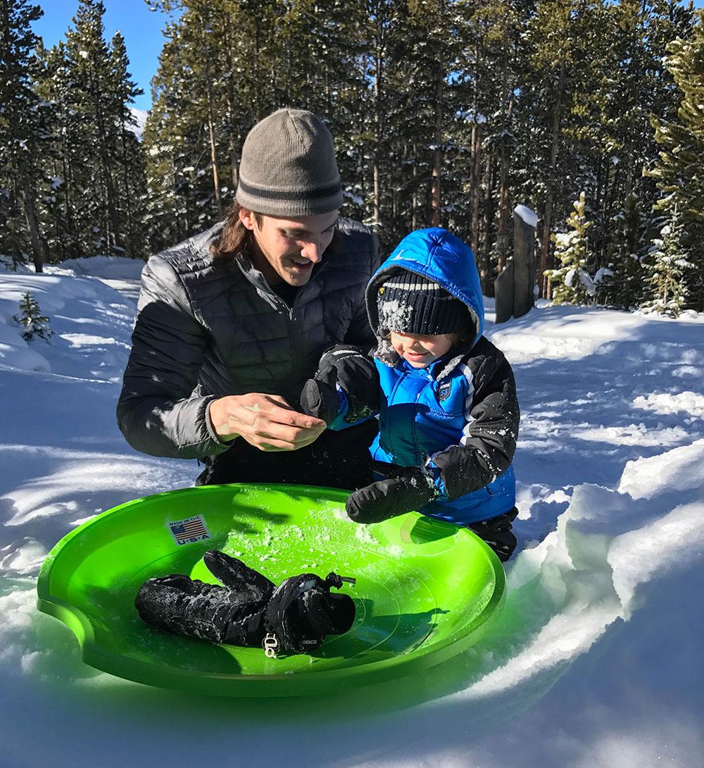 Sledding in Breckenridge Colorado