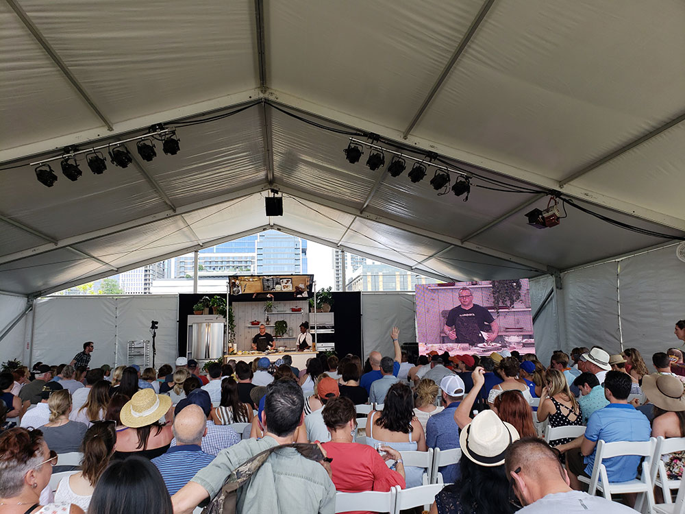 Cooking Demo at Food and Wine Festival