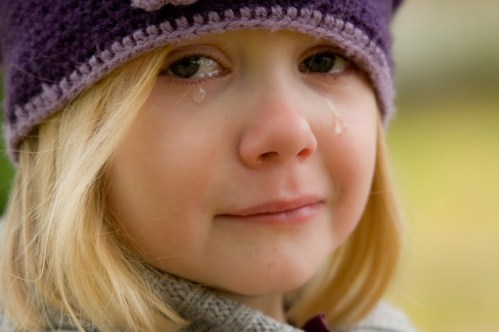 feeling upset little girl crying
