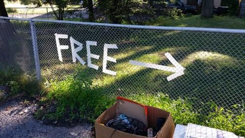 rid of stuff let go of stuff yard sale donate