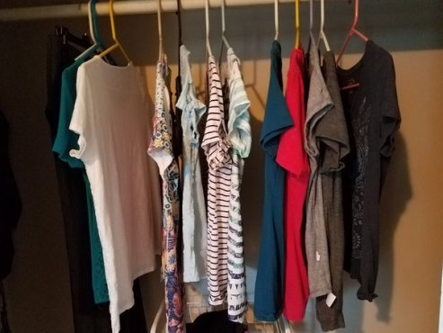 clothes closet clutter my simple wardrobe