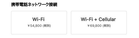 iPad Wi-Fi セルラー