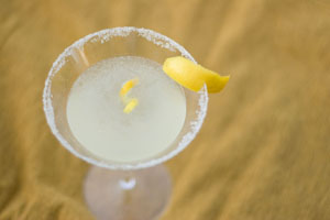 Valentine's Day Martinis: Rosemary Lemon Drop Martini & Orange Blossom Martini