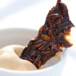 Caramel Ice Cream with Beer Brittle
