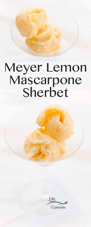 Meyer Lemon Mascarpone Sherbet