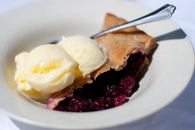 Blackberry Pie with Buttermilk Sherbet  https://lifecurrentsblog.com  Blackberry Pie with Buttermilk Sherbet: a wonderful fruit pie that I love. I give you a recipe so that you can use just about any fruit in the pie. Homemade pie shows your love!