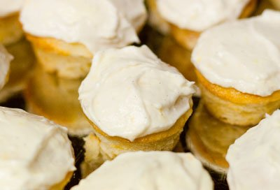 Birthday Weekend ... with Cupcakes Coconut lemon mini cupcakes with lemon cream cheese frosting