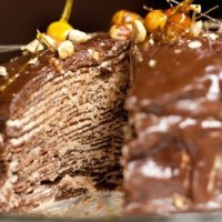 """Darkest Chocolate Crepe Cake or """"what have I gotten my husband into?"""""""