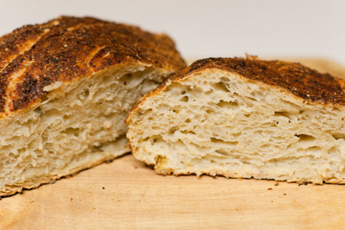 Garlic, Tomato, and Cheese Twisted Yeast Bread featured recipe for Rosemary-Lemon No-Knead Bread
