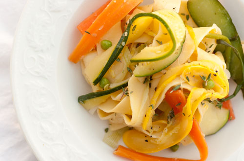 Pappardelle Pasta with Veggie Ribbons
