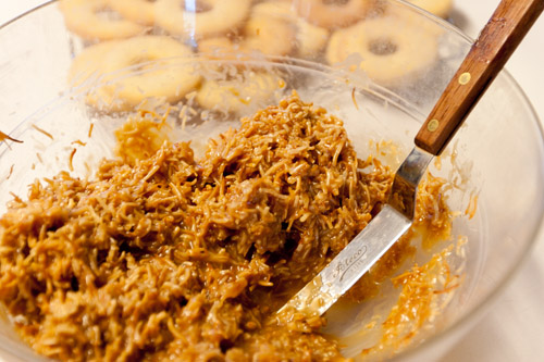 topping Tropical Pacific Cookies (aka homemade Girl Scout Samoas or caramel delights) Life Currents #copycat #homemade #cookies #girlscouts