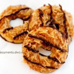 Tropical Pacific Cookies (aka homemade Girl Scout Samoas)