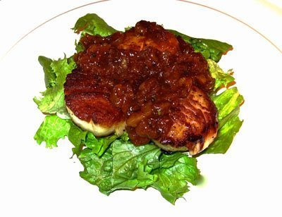 Scallops with an apricot grill sauce for Seafood for the Future