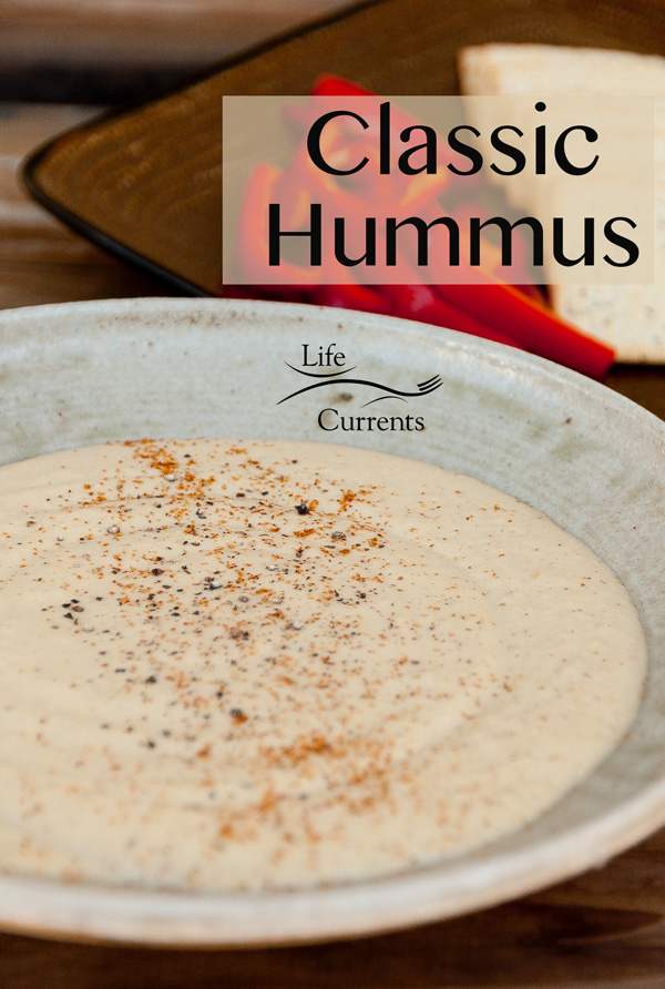 Classic Hummus is a great healthy snack, especially when served with some nice veggies.