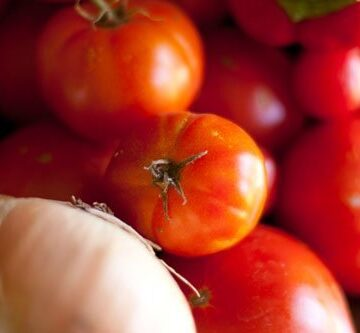 tomatoes, onions, peppers