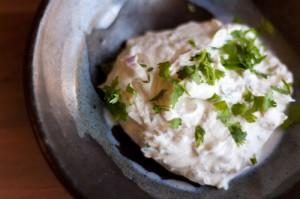 cilantro spiced goat cheese spread
