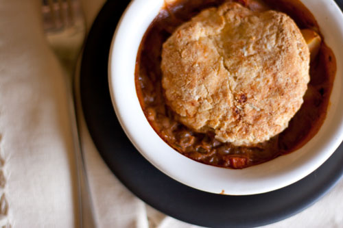 vegetarian lentil and potato pot pies with rosemary biscuit crust: Lentils. Lentils. Lentils! These Lentil and Potato Pot Pies with Rosemary Biscuit Crust pot pies would be great for a special dinner like Thanksgiving where you have vegetarian guests. #vegetarian #potPie #comfortfood https://lifecurrentsblog.com