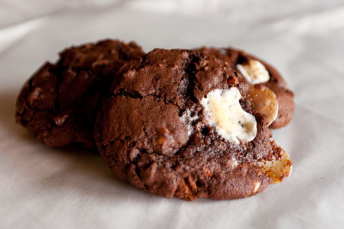 Rocky Road Cookies (kinda like s'more cookies)