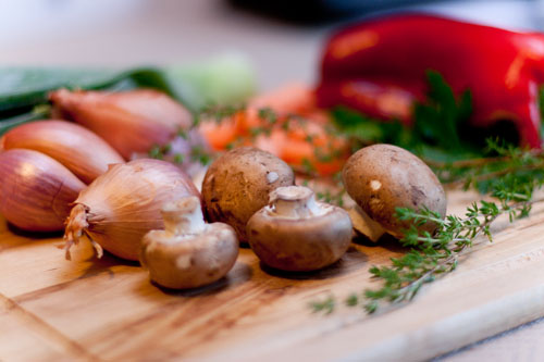 Vegetarian Roasted Vegetable Broth pretty veggies