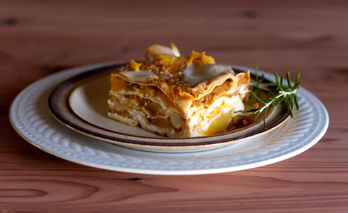 lasagna with pumpkin
