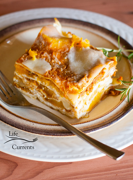 My Pumpkin Lasagna with Roasted Butternut Squash tastes like eating Autumn.