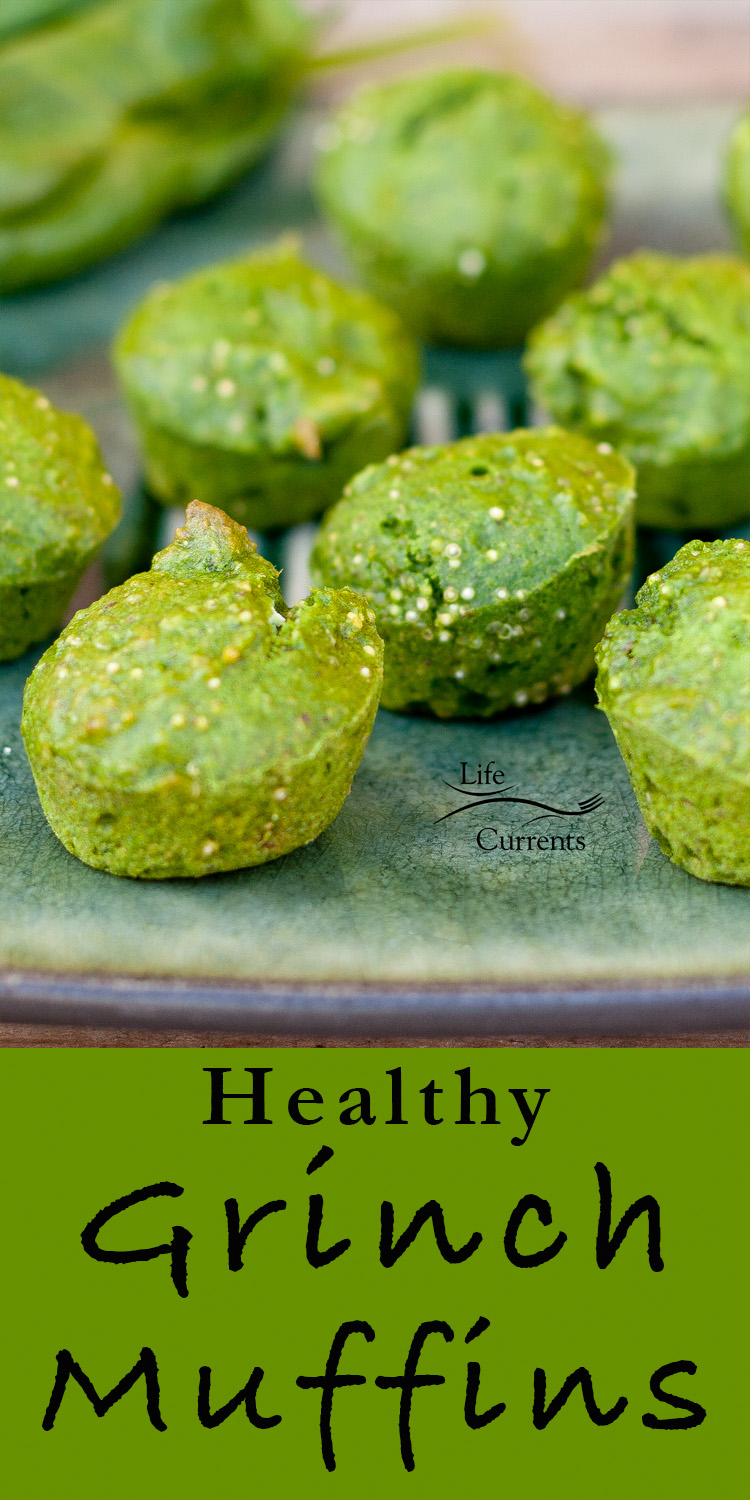 Healthy Spinach Grinch Muffins #eathealthy #spinach #muffins #breakfast