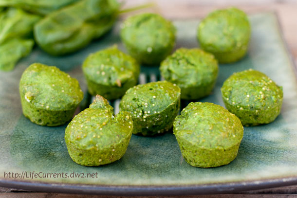 """I'd like to call these Spinach Quinoa Muffins, """"Oscar The Grouch Muffins"""". Green and kind of gruff looking, but ultimately lovable and yummy! Life Currents #quinoa #muffins #green https://lifecurrentsblog.com"""