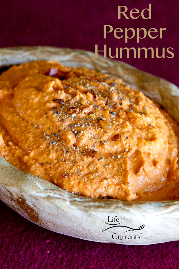 Roasted Red Pepper Hummus Sandwich with Caramelized Onions
