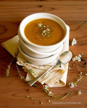 vegan sweet potato miso soup