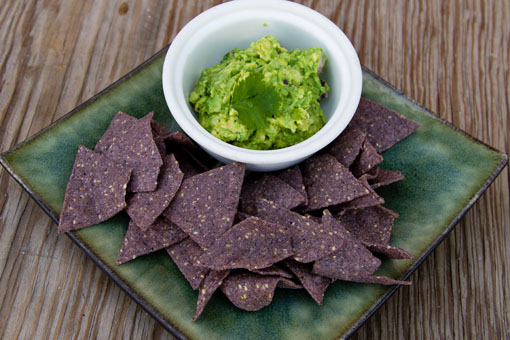 guacamole and chips made with the Gwen avocado