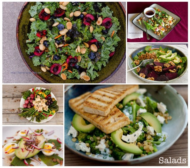 A collection of drool worthy salads