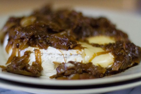 Baked Brie with Homemade Onion Jam