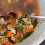 Brwon Rice Vegetable Soup