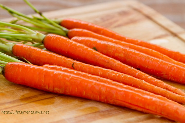 Carrots my choice of carrots are the long skinny ones sold with the tops on