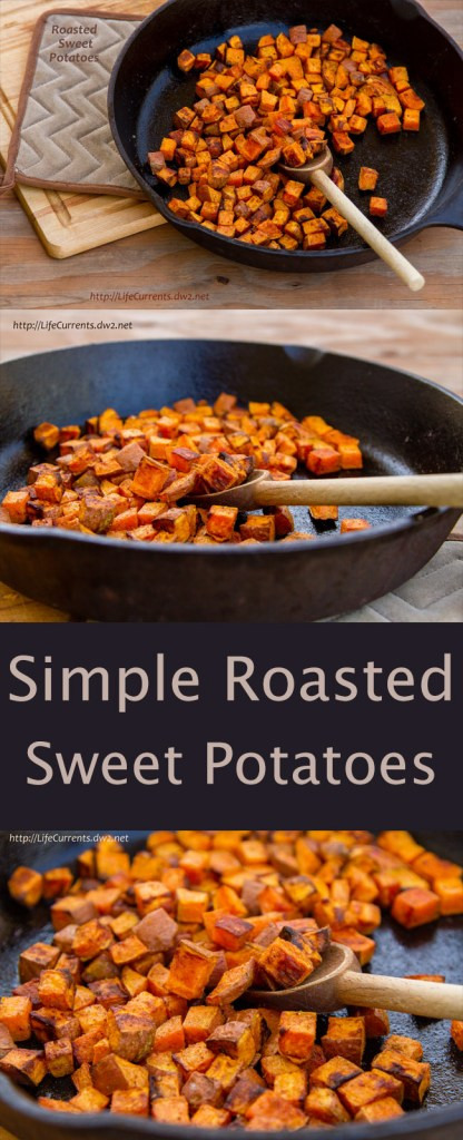 Roasted Sweet Potatoes – roasting brings out the sweet nutty flavors of this delicious and healthy veggie. This is a simple recipe with just the sweet potato and some spices.