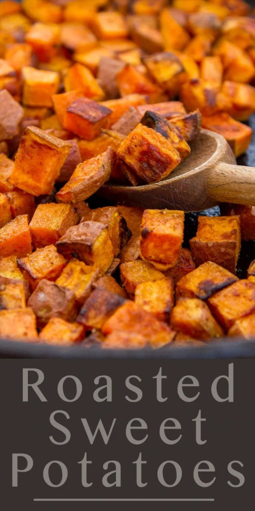 roasted sweet potatoes side dish or ingredient in tacos