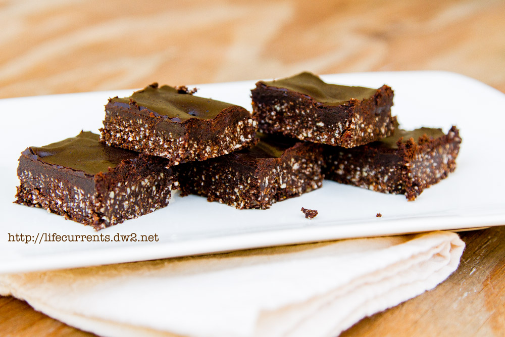 Double Layer Carob Fudge Bites