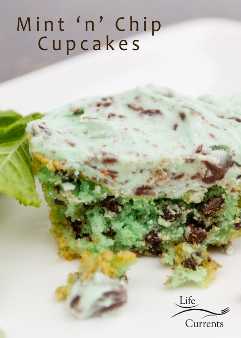 Mint 'n' Chip Cupcakes with Mint 'n' Chip Frosting - so yummy and impressive! Perfect for a party!
