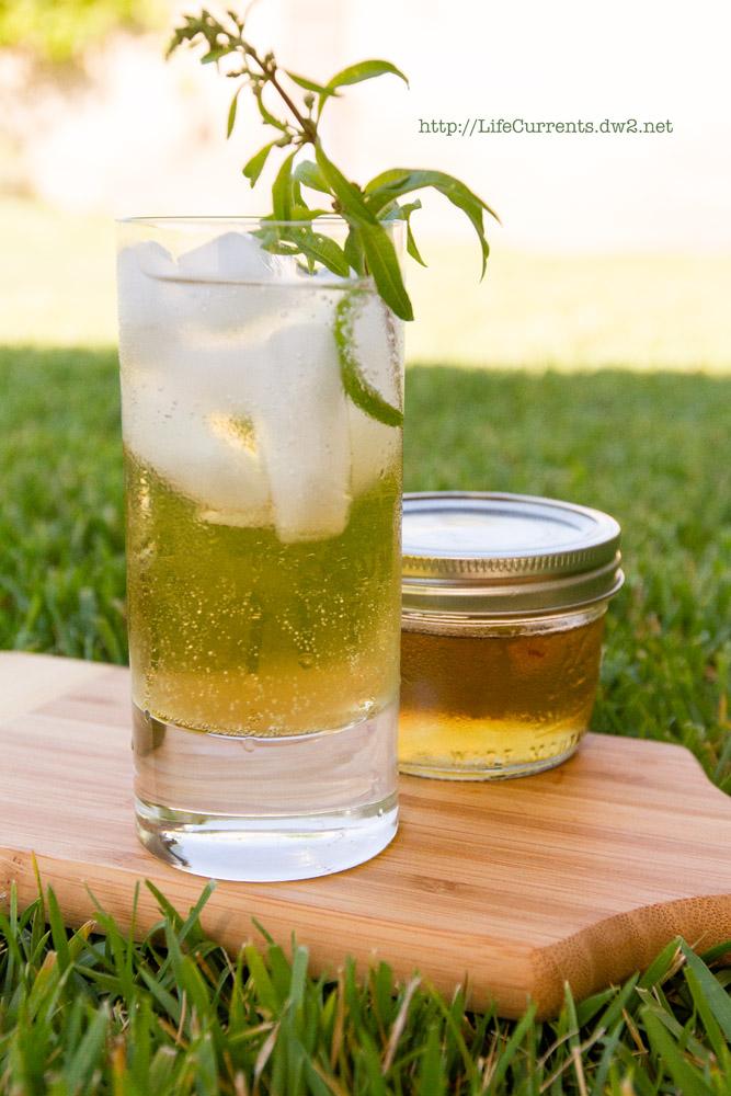 Lemon Verbena Lemongrass Soda Lemon Verbena & Lemongrass Lemon Verbena and Basil Simple Syrups flavored simple syrup #lemonVerbena #basil