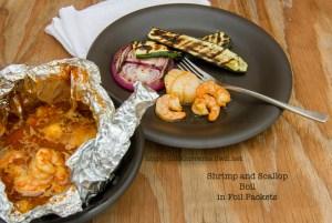Shrimp and Scallop Boil in Foil Packets | Life Currents https://lifecurrentsblog.com
