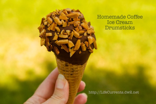 Homemade Coffee Ice Cream Drumsticks | Life Currents All the fun of when you were a kid with none of the yucky transfats or weird ingredients. I bring you, the Homemade Coffee Ice Cream Drumstick! #homemade #iceCream #summer