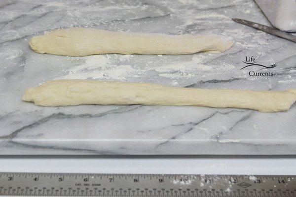 Homemade Pretzels - roll the dough into ropes