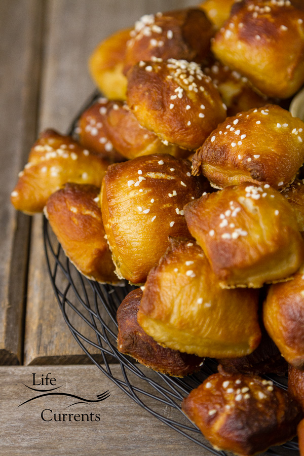Delicious little Homemade Pretzels - bites that you'll absolutely love to snack on!
