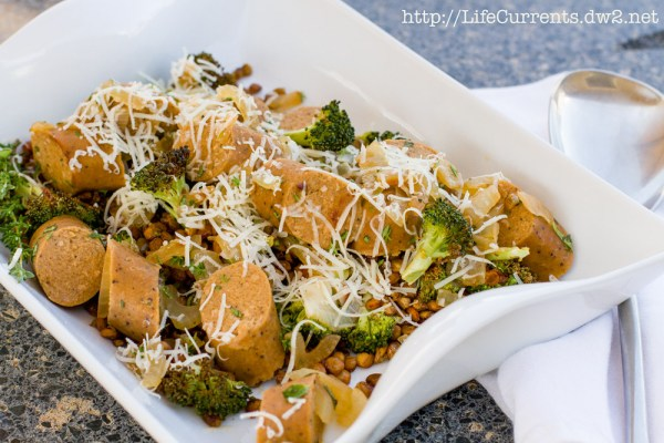 Sausage, Broccoli, and Roasted Lentils | Life Currents https://lifecurrentsblog.com