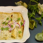 Island Trollers Tuna Enchiladas with tomatillos and green chile cream sauce | Life Currents https://lifecurrentsblog.com