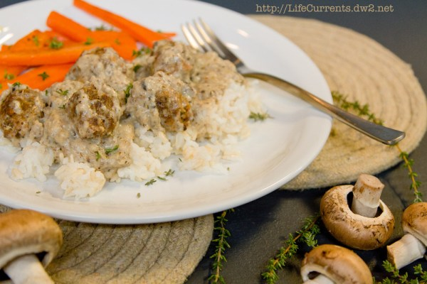 Country Gravy Mix featured recipe for Little Meat Patties and Rice