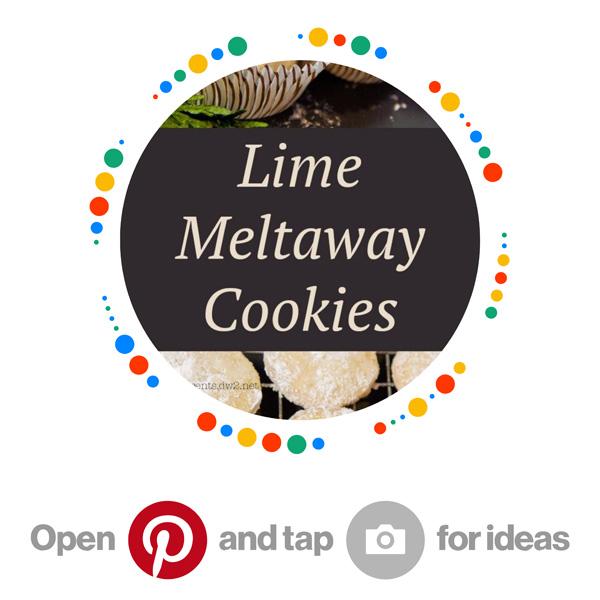 Lime Meltaway Cookies Pinterest Pincode for Citrus + Lemon + Lime + Orange Recipes board