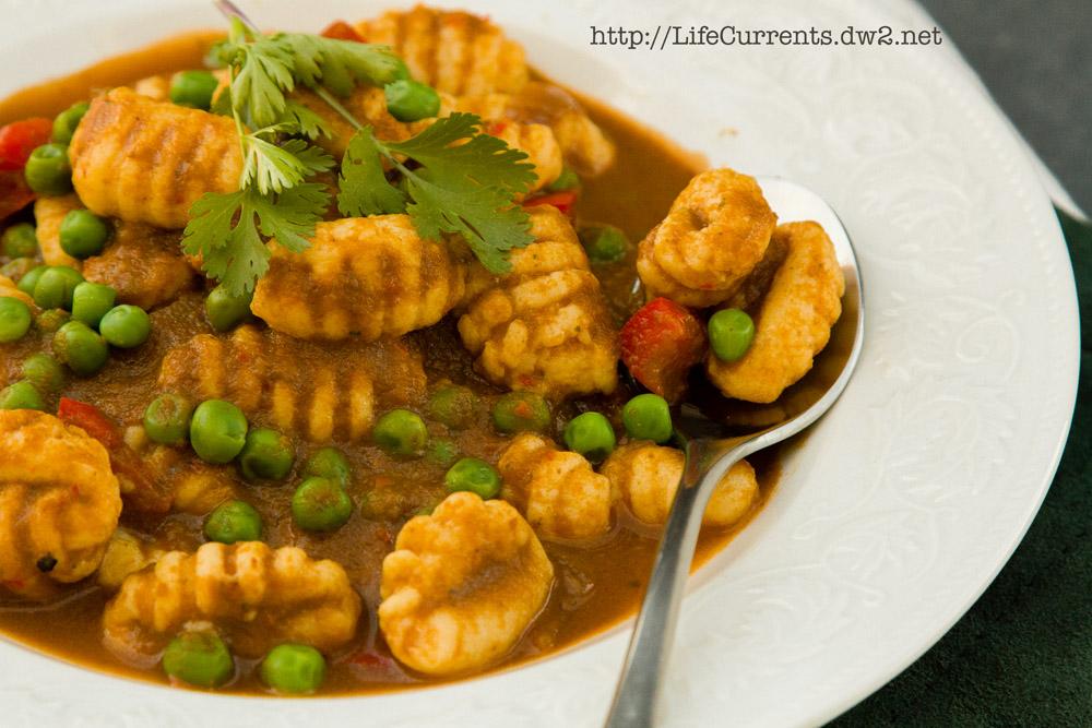 Vegetarian Gnocchi with Peruvian Seco Sauce | Life Currents #meatlessMonday #Peruvian #sauce #gnocchi #potato